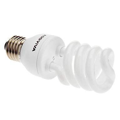 ADDVIVA ® E27 20W 1250LM 6500K Dagsljus ESL / CFL 3.5T Half Spiral Bulb (220-240V)
