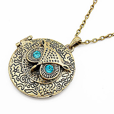 Women's Pendant Necklaces Vintage Necklaces Owl Alloy Jewelry For Party Daily