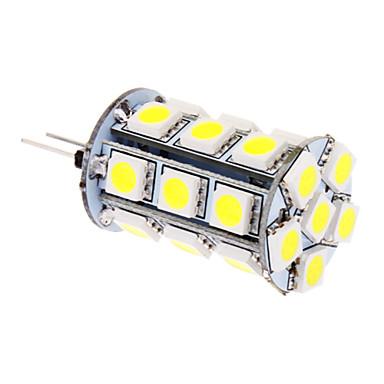 370 lm G4 LED Mısır Işıklar T 24 led SMD 5050 Serin Beyaz DC 12V