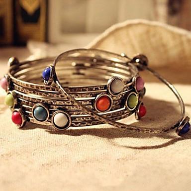 abordables Bracelet-Chaînes Bracelets Femme Résine Bonbon Bohème Bracelet Bijoux Arc-en-ciel pour Quotidien