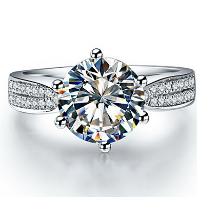 Inele Pentru femei Diamant Argintiu / Argint veritabil / Placat cu platină Argintiu / Argint veritabil / Placat cu platină Iubire5 / 6 /