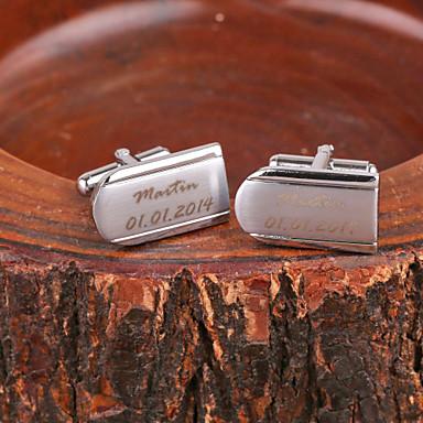 Personalisierte Geschenke Manschettenknöpfe Metal Unisex Geschäftlich Luxuriös Modern Geschenk