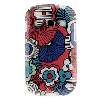 Farverige kronblade Mønster TPU Soft Back Case Cover til Samsung Galaxy Fame S6810