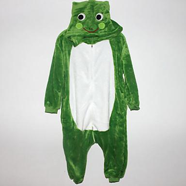 Pijama Kigurumi Broască Pijama Întreagă Costume Flanel Lână Cosplay Pentru Pentru copii Sleepwear Pentru Animale Desen animat Halloween