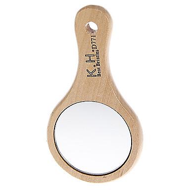 Mâner din lemn de dimensiuni mici cosmetice Round Mirror