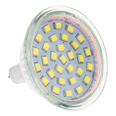 3W 250-300 lm GU5,3(MR16) LED-kohdevalaisimet 24 ledit Lämmin valkoinen Kylmä valkoinen AC 12V
