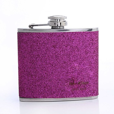 Personalized Father's Day Gift Splash 5oz PU Leather Flask (Gold,Pink,Rose)