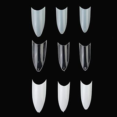 100PCS tvaru C Professional French False Acrylic Nail Art Tipy (různé barvy)