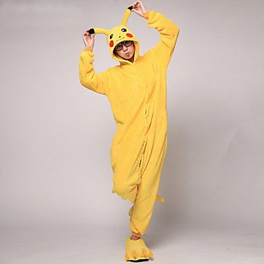 Pyžama Kigurumi Pika Pika Pyžamo Onesie Kostým Coral Fleece Cosplay Pro Dospělé Animal Sleepwear Karikatura Halloween Festival / Svátek