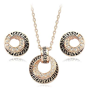 vintage slitina zlata s crytal a pozlacenými (náušnice a náhrdelník) vintage šperky et