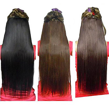 25 inch clip in synthetic straight hair extensions with 5 clips 25 inch pmusecretfo Images