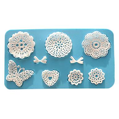 Backform Blume Spitze Obstkuchen Plätzchen Kuchen Silikon Umweltfreundlich Valentinstag Gute Qualität