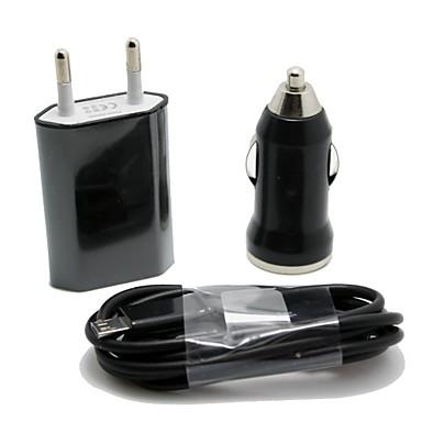 Auto-Ladegerät / Ladegeräte für Zuhause / Tragbares Ladegerät USB-Ladegerät EU Stecker 1 USB Anschluss DC 12V-24V