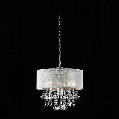 QINGMING® Modern / Contemporary Pendant Light Downlight - Crystal, 110-120V 220-240V Bulb Not Included