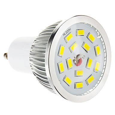 GU10 LED-spotlys 15 leds SMD 5730 Dæmpbar Varm hvid 100-550lm 2700-3500K Vekselstrøm 220-240V