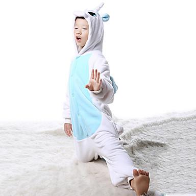 Kigurumi Pijamale Unicorn Costume Kigurumi Leotard / Onesie Cosplay Festival / Sărbătoare Sleepwear Pentru Animale Halloween Peteci Pentru