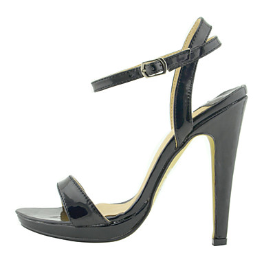 sandálias de couro do salto stiletto partido / noite (mais cores)