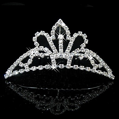 Women's Flower Girl's Rhinestone Crystal Headpiece-Wedding Special Occasion Tiaras