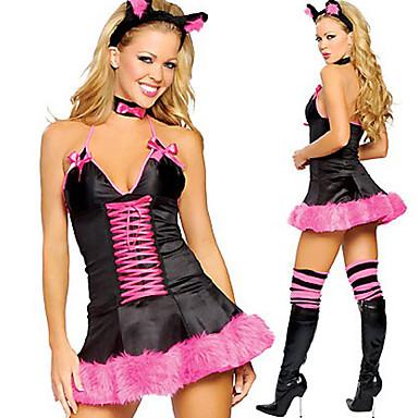 Hasenmädchen Cosplay Kostüme Party Kostüme Damen Halloween Karneval Fest / Feiertage Halloween Kostüme Patchwork