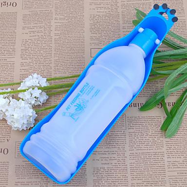 L Hund Schalen & Wasser Flaschen Haustiere Schüsseln & Füttern Tragbar Rot Blau