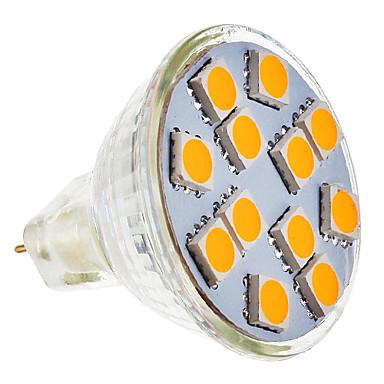 SENCART 210-250 lm GU5.3(MR16) LED Spotlight MR11 12 leds SMD 5050 Warm White AC 12V
