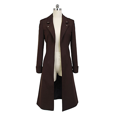 Inspired by Attack on Titan Levy Anime Cosplay Costumes Cosplay Suits Solid Long Sleeves Coat For Men's