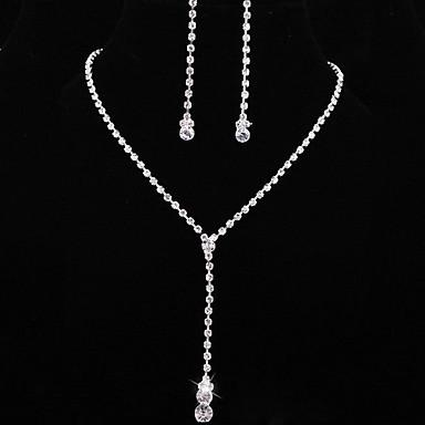 Wedding Elegant Rhinetone Crytal Earring & Necklace Jewelry et