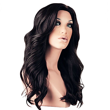 Top Quality 18Inch 130% Density 100% Brazilian Front Lace Human Hair Wigs 4 Color