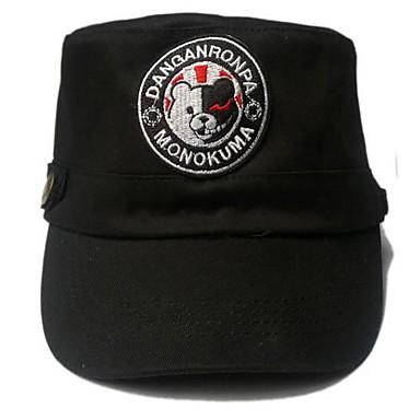 Hat/Cap Inspired by Dangan Ronpa Monokuma Anime/ Video Games Cosplay Accessories Cap / Hat Black Linen Male / Female