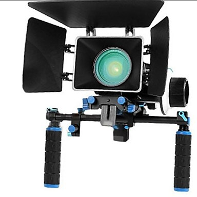 Rig Movie Kit Med Follow Focus + Shoulder Mount Holder + Mattebox Camera Rig til DSLR kameraer