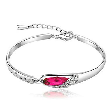 baratos Bangle-Bracelete Solitário Guloseima senhoras Luxo Original Casual Diamante Pulseira de jóias Roxo / Vermelho / Azul Para Festa Presente namorados / Imitações de Diamante