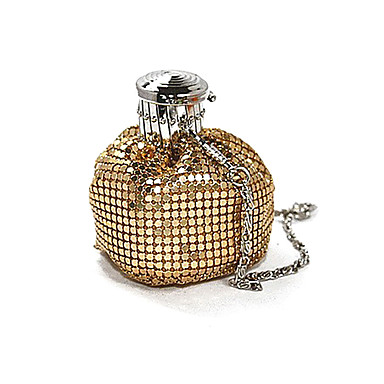 Women's Bags Metal / Nylon Evening Bag Crystals for Event / Party Black / Silver / Coffee