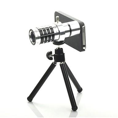 12X detașabil Telephoto Lens Set pentru iPhone5 - argint