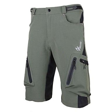 Arsuxeo Herrn Fahrradhosen - Schwarz Armeegrün Fahhrad Shorts/Laufshorts Mountainbike Shorts, Rasche Trocknung, Anatomisches Design,