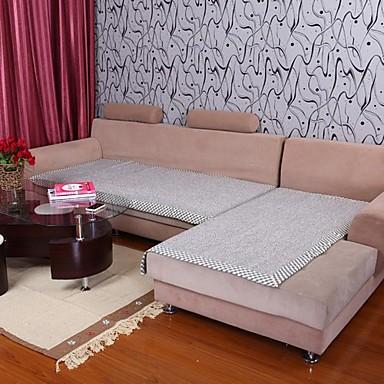 Elaine bumbac cânepă bordure gri canapea pernă 333823