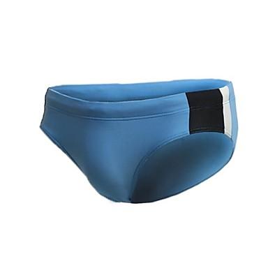 Nylon spandex fata Jaggad bărbați căptușite Albastru Swim Briefs