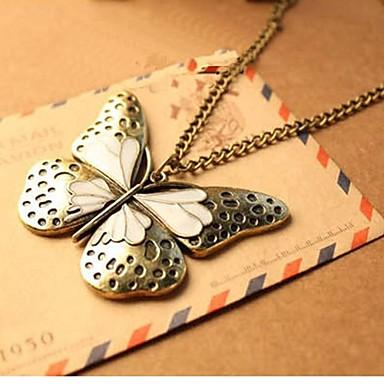 Dámské Slitina Náhrdelníky s přívěšky - Slitina Evropský Motýl Zvíře Náhrdelníky Pro