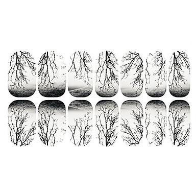 12 3D naljepnice za nokte Cijeli Nail Savjet Crtići Moda Visoka kvaliteta Dnevno