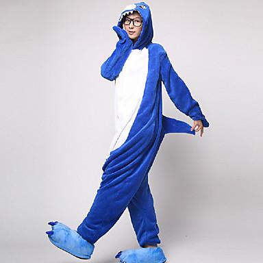 Erwachsene Kigurumi-Pyjamas Shark Pyjamas-Einteiler Flanell Vlies Cosplay Für Herren und Damen Tiernachtwäsche Karikatur Halloween Fest / Feiertage