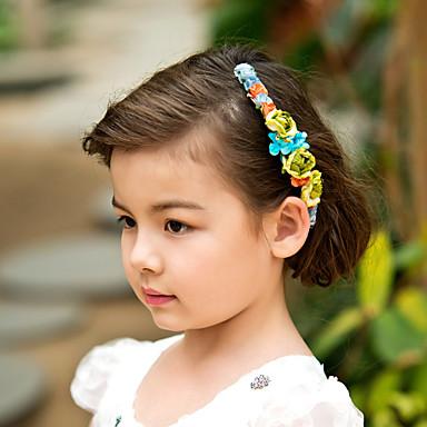 abordables Bijoux de Cheveux-guirlande bouquet de printemps / casque pour les filles de fleurs