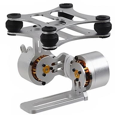 2-Axis Aluminum Børsteløs Kamera Montage Kugleled Med Motor Til Gopro3 Dji Phantom