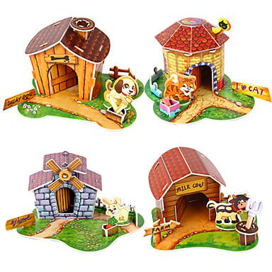 voordelige 3D-puzzels-3D Puzzel Mini Pet House speelgoed voor Kids (willekeurige kleur)