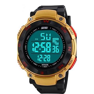 SKMEI Bărbați Ceas Sport / Ceas de Mână / Ceas digital Alarmă / Calendar / Cronograf Cauciuc Bandă Charm Negru / Albastru / Verde / Rezistent la Apă / LCD
