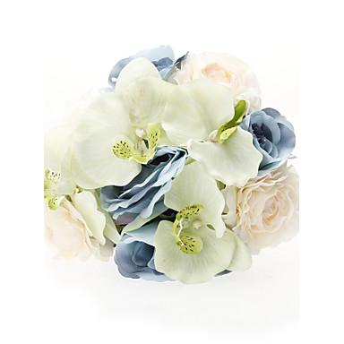 Svatební kytice Kytice Svatební Večírek Tyl Hedvábí Satén 30 cm (cca 11,8