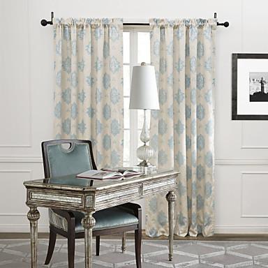 Due pannelli trattamento finestra rustico camera da letto miscela polyester cotone materiale - La finestra della camera da letto ...