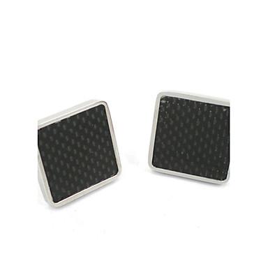 Smart Man Black Carbon Fibre for Sundhed 316L Stainless Steel Manchetknapper