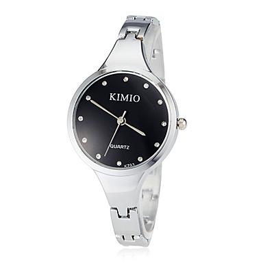 Damen Armbanduhr Quartz Armbanduhren für den Alltag Edelstahl Band Analog Armreif Modisch Silber - Weiß Schwarz
