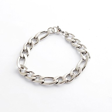 Men's Chain Bracelet - Stainless Steel Personalized, Unique Design, Vintage Bracelet Silver For Christmas Gifts / Daily / Casual
