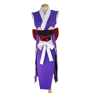 Inspirovaný Fairy Tail Erza Scarlet Anime Cosplay kostýmy Cosplay šaty Kimono Patchwork Zástěra Pásek Mašle Kimono Pro Dámské
