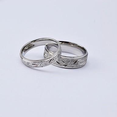 Pánské Dámské Snubní prsteny Titanová ocel Round Shape Šperky Pro Denní Ležérní